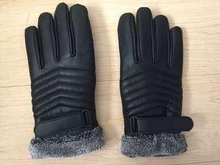 Synthetic Leather Thick Gloves