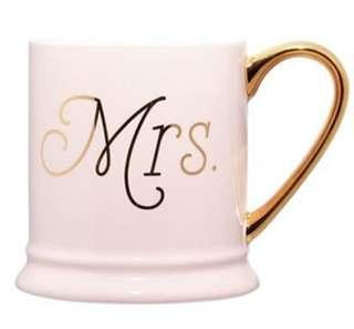Brand New 'Mrs.' Barrel Mug