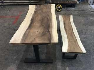 Solid Suar Wood Dinning Table set (1 bench)