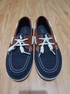 Polo Navy Blue & Leather Women Canvas Shoes