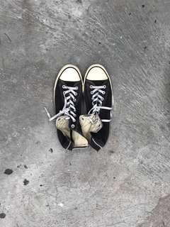 converse chuck taylor hi zip black white