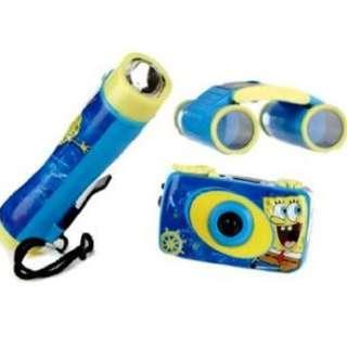 Spongebob Squarepants Camera Flashlight Binoculars Adventure Kit