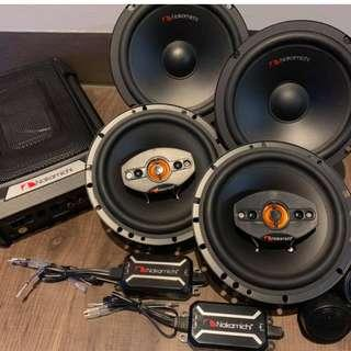 Audio bundle Package with speakers and active subwoofer FREE 4 doors Soundproofing