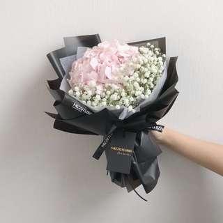 🚚 Fresh Hydrangea Flower Bouquet | Vday  Bouquet | Birthday Gift | Flower Delivery |情人节花束 |玫瑰花束|鲜花运送