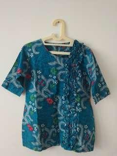 Batik Formal Hijau Kebiruan