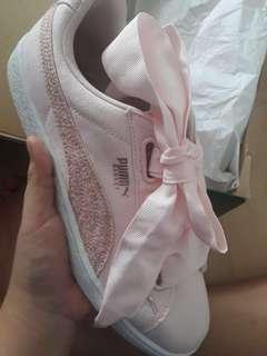 Pink Puma Basket Heart