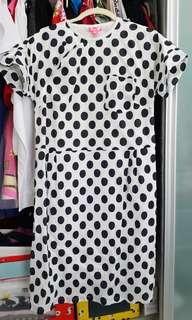 Polka dots cheongsam/ dress from Tong Tong Friendship Store