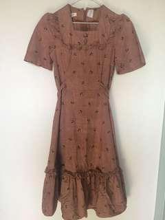 Vintage Umbrella Print Dress