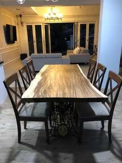 Solid Suar Wood Dining Table