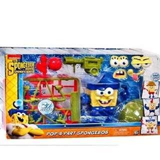 Spongebob Squarepants Movie Out of Water Pop-A-Part Action Figure