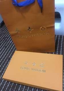 Louis Vuitton Box with paper bag