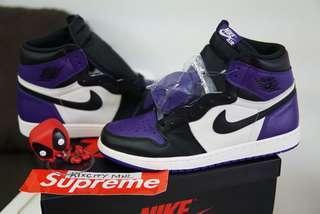 Air Jordan 1 court purple 12 US