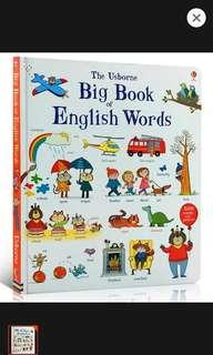 Board book on English words