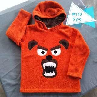 🍁Angry Dog Orange Hoodie