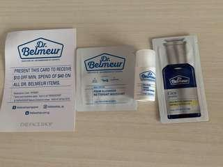 Dr Belmeur Skin Set (3 items + $10 discount voucher) The Face Shop
