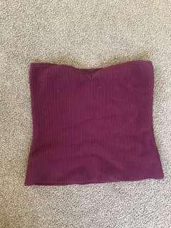 Purple boob tube