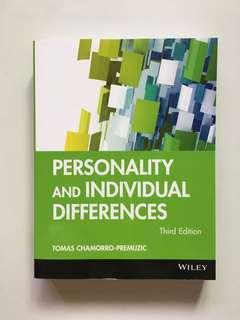 Personality and Individual Differences - Third Edition by Tomas Chamorro-Premuzic