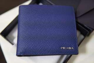Prada Wallet Mens - blue