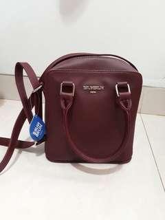 [NEW] Maroon Sling Bag Brun Brun Paris
