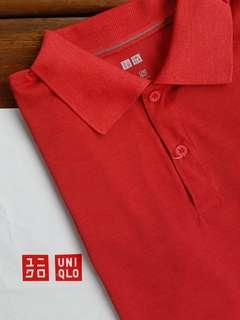 Uniqlo Kaos Polo Shirt Dry-EX Merah