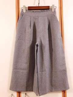 全新灰藍色闊腳褲