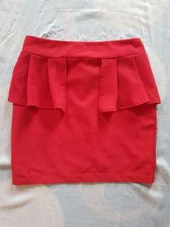 Red Mini Skirt Pre ❤