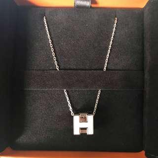 Brand New Hermes Cage H Necklace