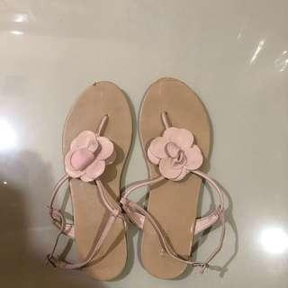 Sandals Forever 21 Bunga Nude