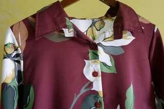 Kemeja blouse bunga tunik