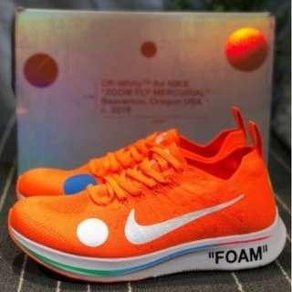 fd35d7a68872 Off-White x Nike Zoom Fly Mercurial Orange