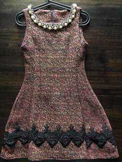 Beautiful dress with pearl beads and lace