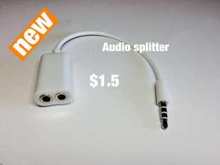 Audio cable splitter(3.5mm)