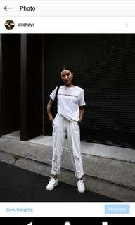 STUSSY pants - white