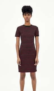 ZARA ribbed elastic dress (size M)