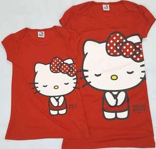 全新Sanrio Hello Kitty紅色裙tee