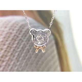 authentic 925 sterling silver bear with diamond