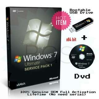 Microsoft Windows 7 SP1 Ultimate x64 (OEM) + Full Activation