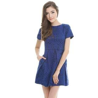 *CNY 50% OFF SALE* BNWT The Closet Lover Elizabeth Embossed Dress
