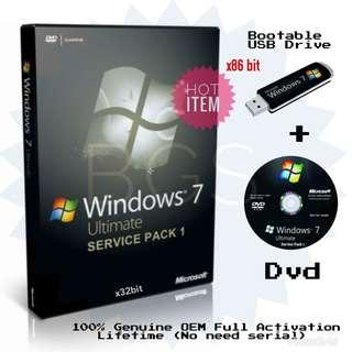 Microsoft Windows 7 SP1 Ultimate x86 (OEM) + Full Activation