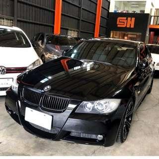 BMW 寶馬 E90 323i M SPORT 日規正M版 跑超少 黑頂蓬 M迎賓飾條 M包 M框 M方向盤 6/4分離倒覆