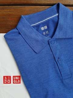 Uniqlo Kaos Polo Shirt Dry-EX Biru