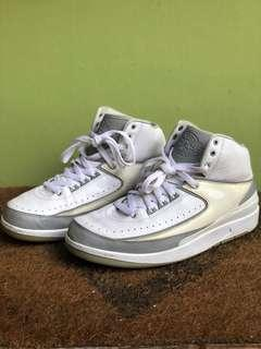 Nike Men's Air Jordan 2 II 2009 Anniversary Pure Money White Grey 3M Basketball Shoes Size 10