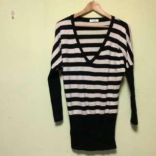 SoNice黑白針織毛衣