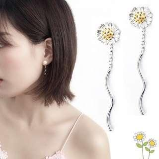 authentic 925 sterling silver sunflower