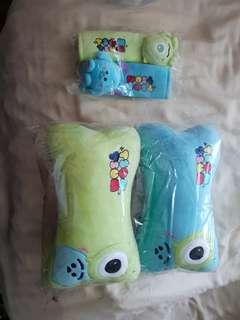 Tsum Tsum alien and sulley pillow and belt set