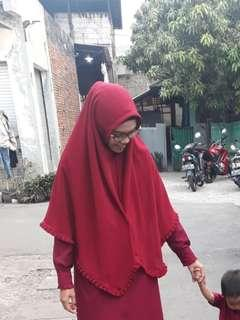jilbab instan remple