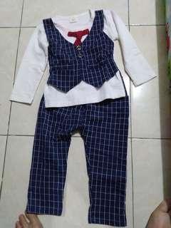 baju 1 set anak cowok pesta