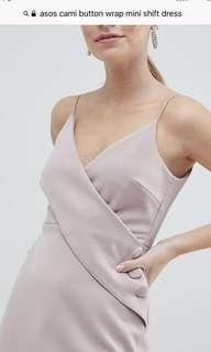 ASOS Cami Button Wrap Mini Shift Dress