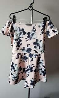 Preloved MDS Floral Off Shoulder romper