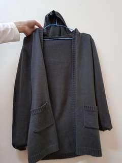 毛衣灰色外套